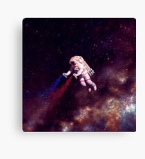 Shooting Stars - the astronaut artist Canvas Print