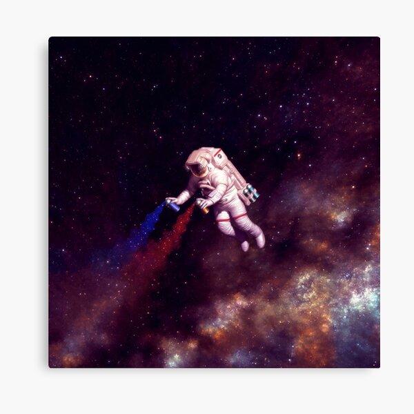 Shooting Stars - the astronaut artist Canvas Print