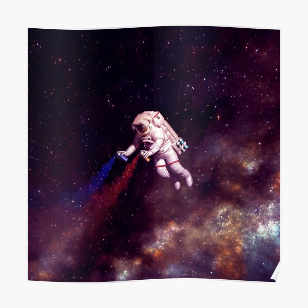 Shooting Stars - the astronaut artist Poster
