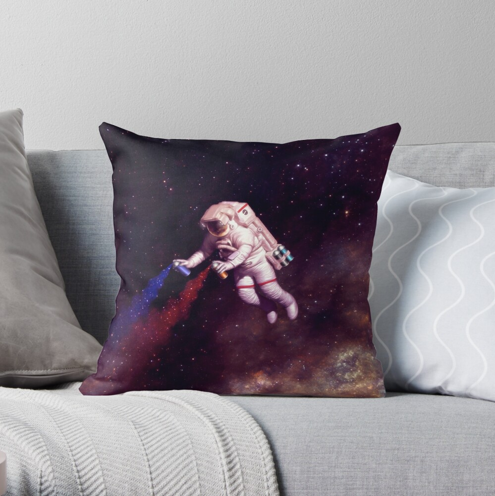 Shooting Stars - der Astronautenkünstler Dekokissen