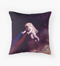 Shooting Stars - the astronaut artist Throw Pillow