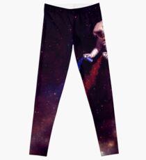 Shooting Stars - the astronaut artist Leggings