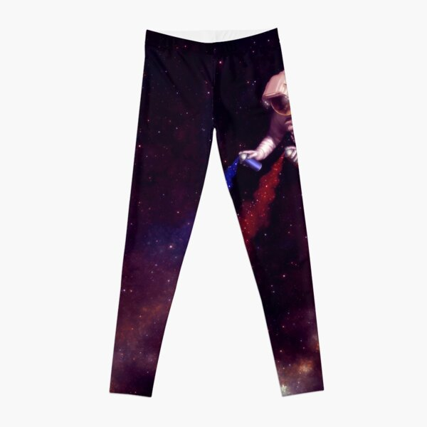 Shooting Stars - the astronaut artist Leggings