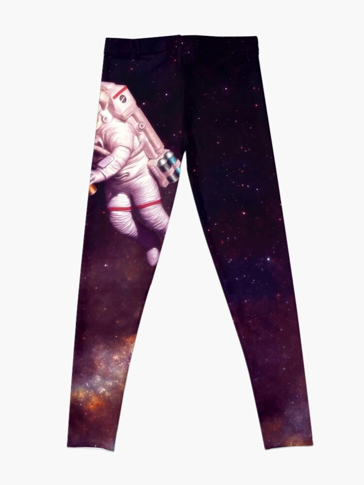 Alternate view of Shooting Stars - the astronaut artist Leggings