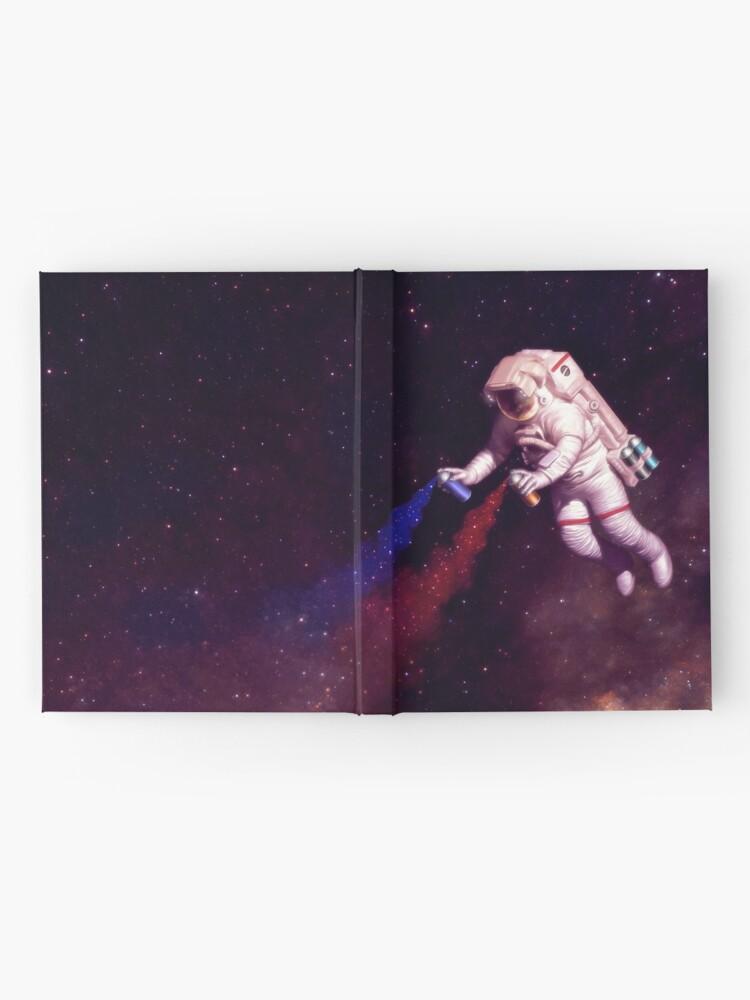 Alternative Ansicht von Shooting Stars - der Astronautenkünstler Notizbuch
