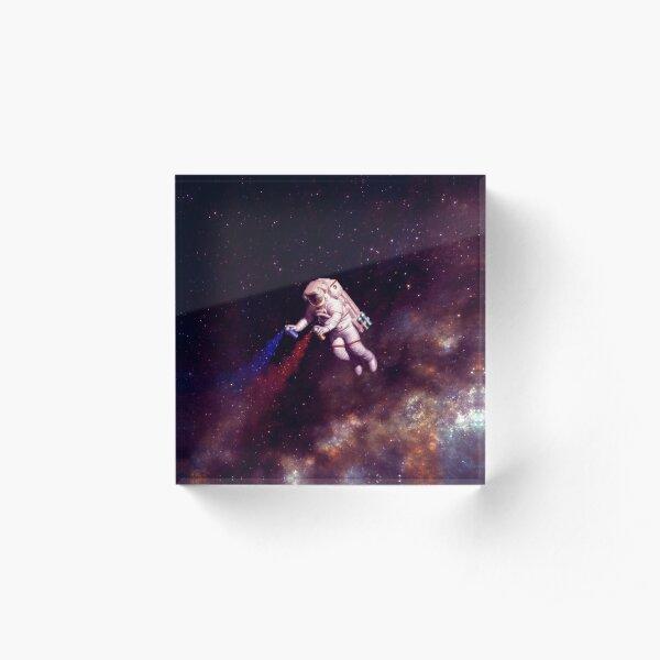 Shooting Stars - the astronaut artist Acrylic Block