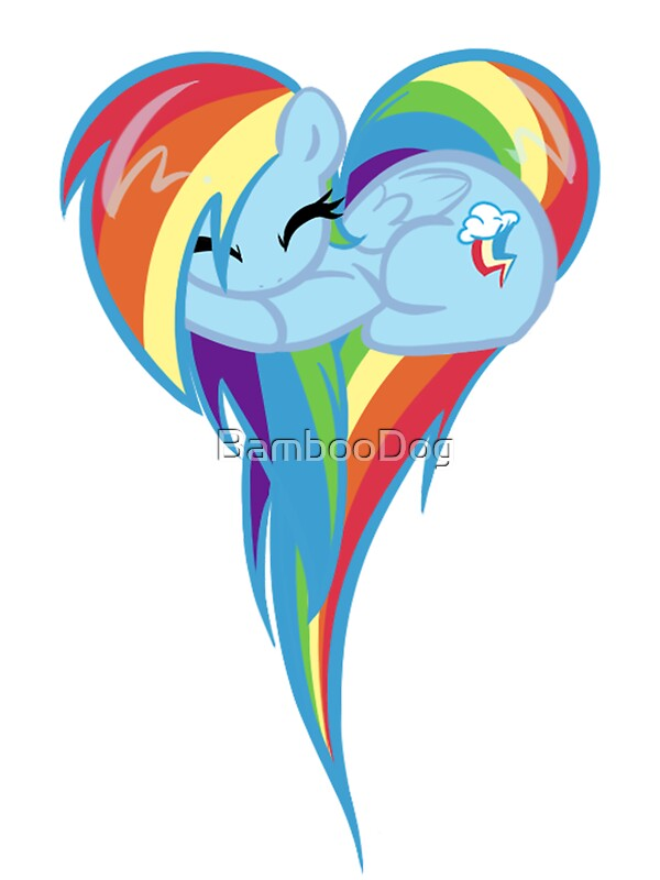 Quot Heart Of Rainbow Dash Quot Stickers By Bamboodog Redbubble