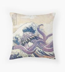The Great Ultros Off Kanagawa Floor Pillow