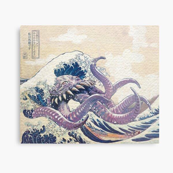 The Great Ultros Off Kanagawa Metal Print