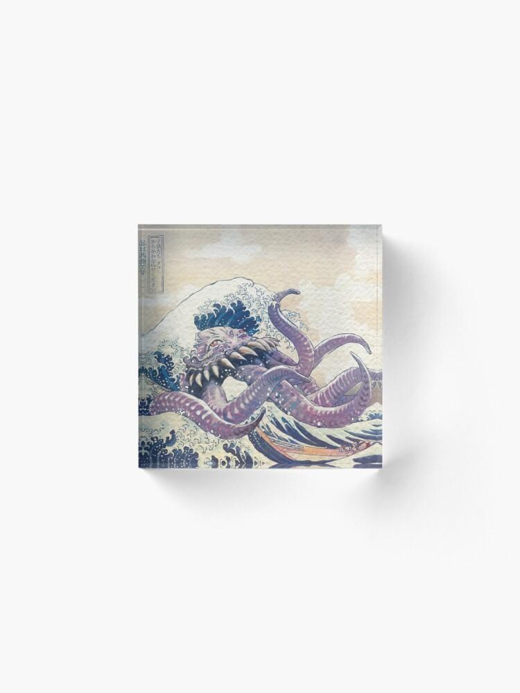 Alternate view of The Great Ultros Off Kanagawa Acrylic Block