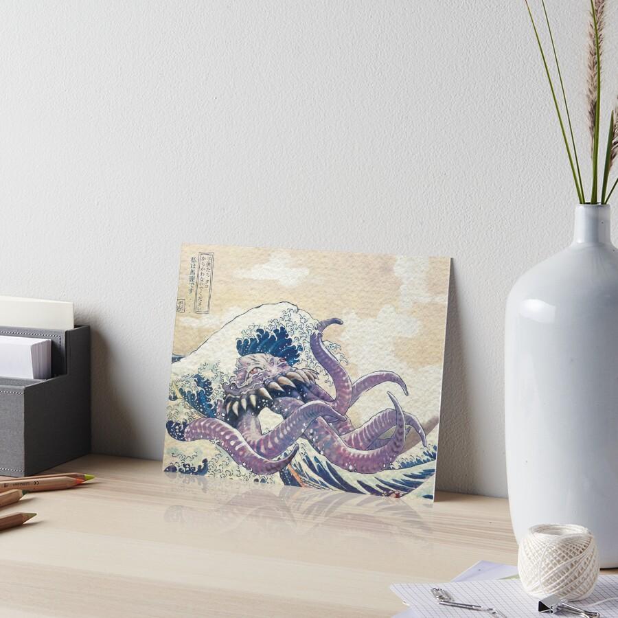 The Great Ultros Off Kanagawa Art Board Print