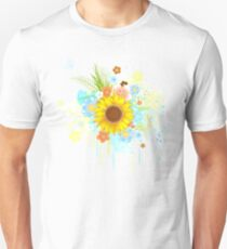 Summer Sunflower on White Background T-Shirt