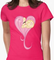Heart Of Fluttershy Womens Fitted T-Shirt