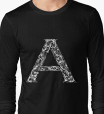 Set of alphabet visual styles. The letter A Long Sleeve T-Shirt