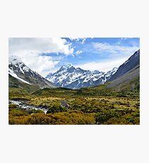 Aoraki, Mount Cook, New Zeland. Photo Print. Photographic Print
