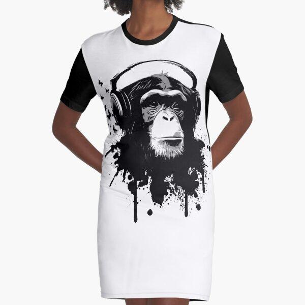 Monkey Business Graphic T-Shirt Dress