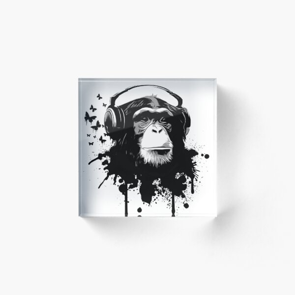 Monkey Business Acrylic Block