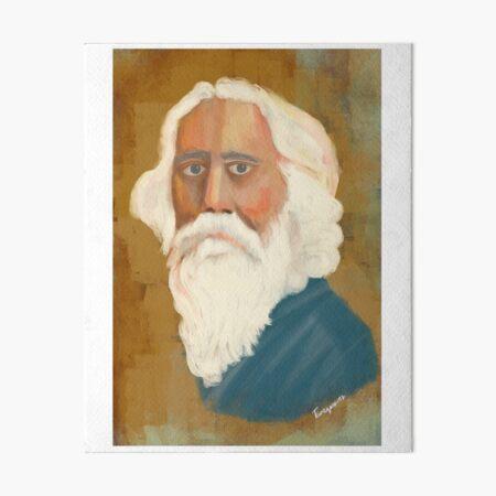 Portrait of Rabindranath Tagore Art Board Print