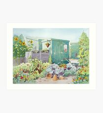 Allotments Art Print