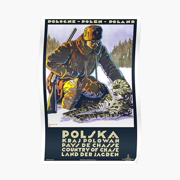 Vintage Poland Travel Poster Poster