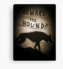 Sherlock Beware the Hound Canvas Print