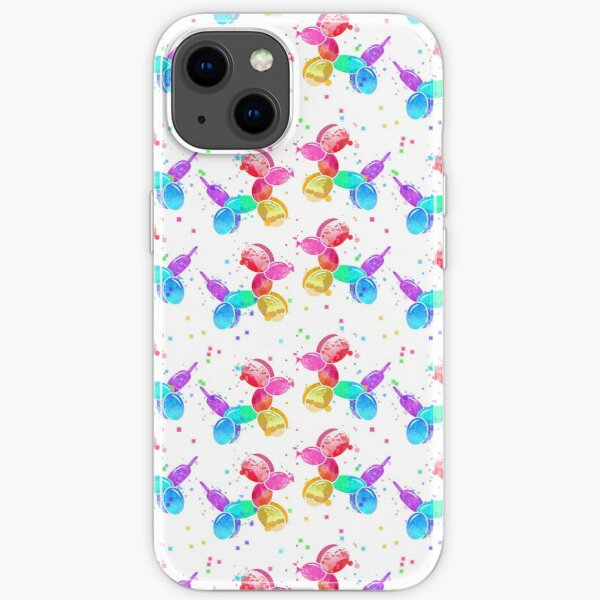 Watercolor Balloon Dogs on white iPhone Soft Case