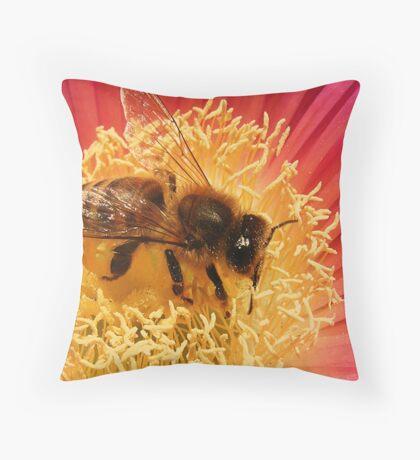Furry Bee Throw Pillow