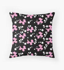 Pink Balloon Dogs & Stars Throw Pillow