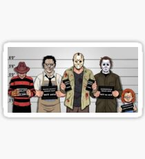 Horror Collage Funny Killer Mugshot Sticker
