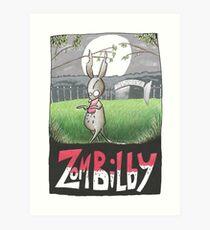 Zombilby (Zombie Bilby) Art Print