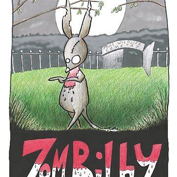 Zombilby (Zombie Bilby) by eddcross