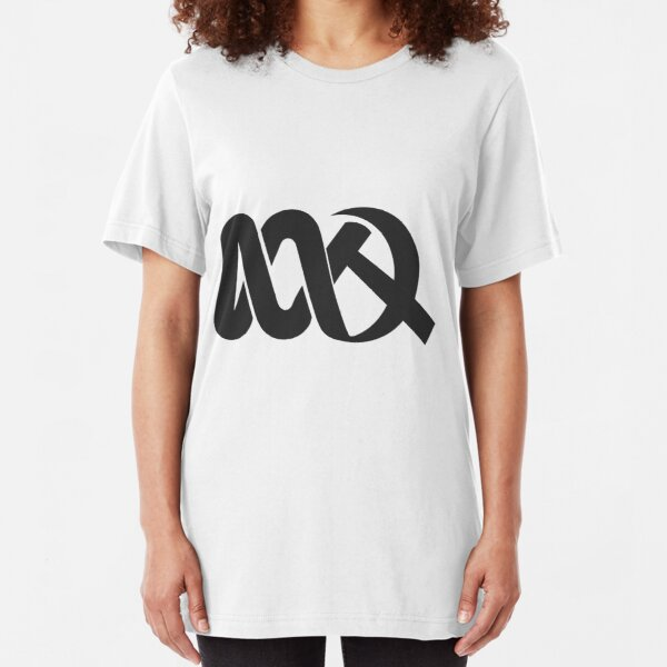 Red ABC Slim Fit T-Shirt