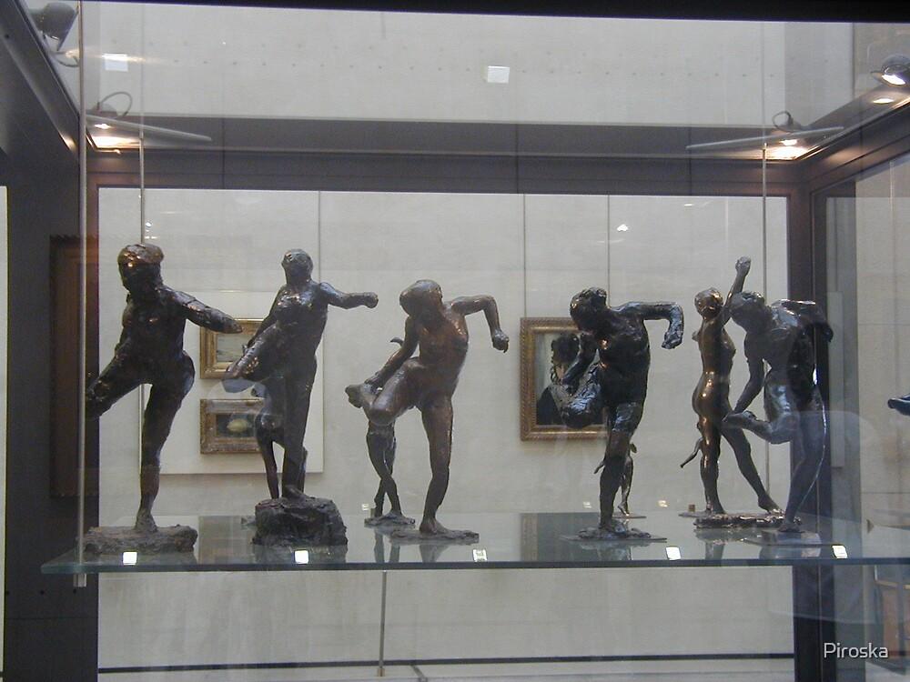 Bronz figurines by Piroska
