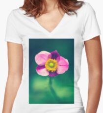 curiouser and curiouser  Women's Fitted V-Neck T-Shirt