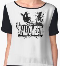 Halloween Scene - 1  Chiffon Top