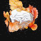 «Gato y peces dorados» de Ruta Dumalakaite
