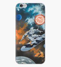 Vinilo o funda para iPhone Surfista de plata