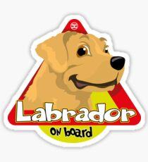 Labrador On Board - Cream Sticker