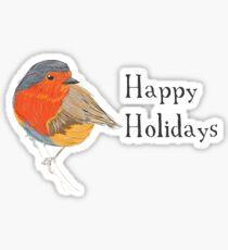 Happy Holidays Robin Sticker