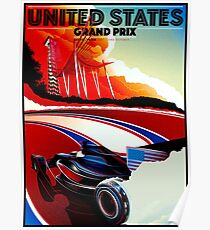 UNITED STATES : Vintage Grand Prix Auto Advertising Print Poster