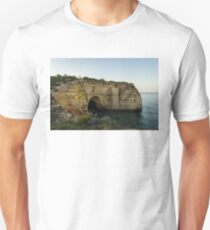 Sea Cave and Agave Bloom Spike - the Magic of Algarve Portugal T-Shirt