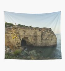 Sea Cave and Agave Bloom Spike - the Magic of Algarve Portugal Wall Tapestry