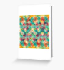 Abstract Geometric Design Greeting Card