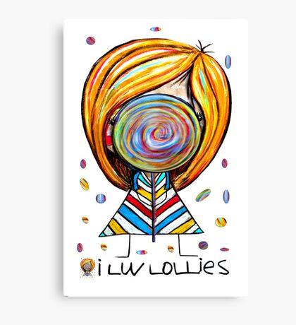 I Love Lollies Canvas Print