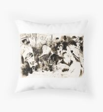 "Trace Monotype after Renoir's ""The Luncheon Of The Boating Party"" Throw Pillow"