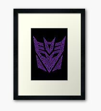 Transformers Decepticons Purple Framed Print