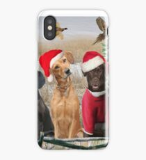 Labs Christmas Day Hunting iPhone Case