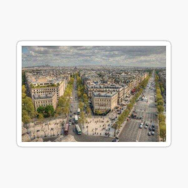 Champs-Élysées from the Arc De Triomphe Sticker