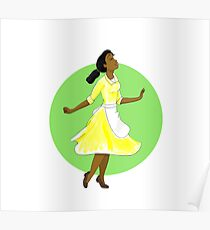 Princess 3 green Poster