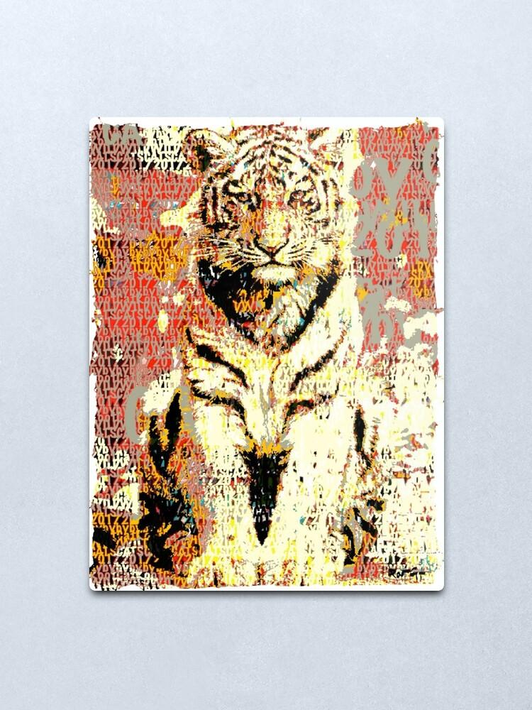 Alternate view of Rootical Tiger #5 Metal Print